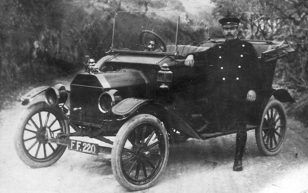 Caernarfonshire, Bangor registered vintage car circa 1920 - Registration FF 220 - Model T Ford