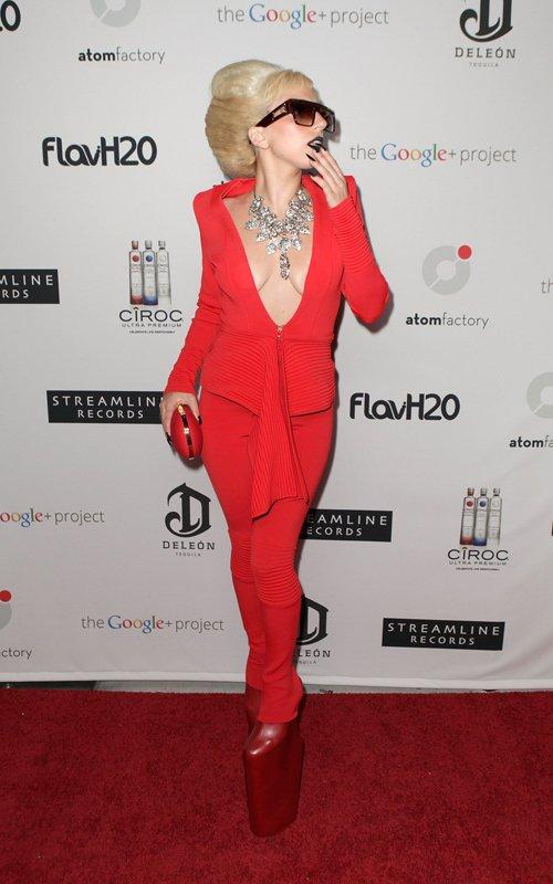 lady-gaga-Alexandre-Vauthier-Fall-2011-Suit-Emmanuelle-Khanh-GP-1000-Sunglasses