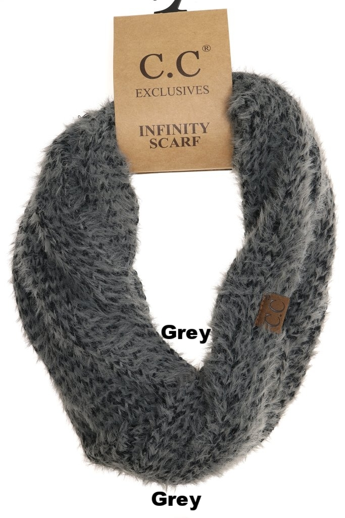 d6a3c972672 Fedora Joes LLC-Fuzzy Two Tone Infinity Scarf INF1918 (2 colors ...