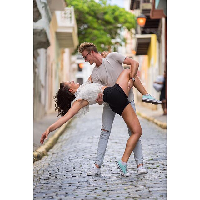Scott and I just realized our cast only has 10 more weeks of cruises left together this contract. Hence the dramatic reactionary backbend 💃🏻🕺 ⠀⠀⠀⠀⠀⠀⠀⠀⠀ 📸 @cruisegoose ___ . . . . ___ #backbend #dancepartners #dancinginthestreet #streetscene #streetstyle  #Fascinators #travel #explore #wanderlust #adventure #bubblesthetourist #CarnivalCruiselines #CarnivalFascination #CarnivalEntertainment #letstravelmore #whynot #photography #travelblogger #travellife #lifestyle #SanJuan #photoshoot #beforethebob 💇🏻‍♀️💁🏻‍♀️