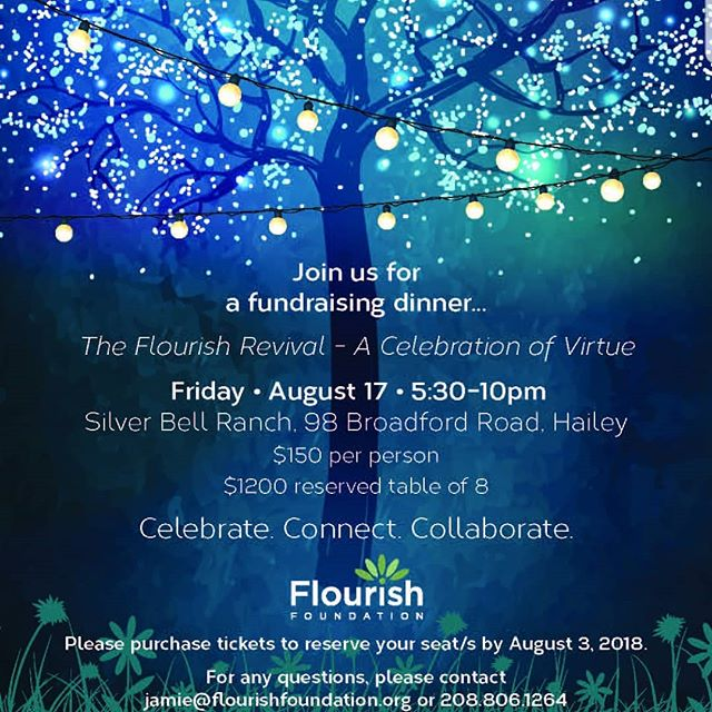 We're so excited to announce our new fundraising dinner event The Flourish Revival - A Celebration of Virtue! Please join us Friday, August 17th for an evening to Celebrate. Connect. Collaborate. We can't wait to share with you! Link in bio to reserve your seats or head on over to our brand new website!
