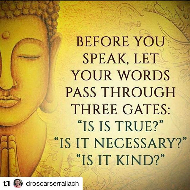 The three gates are incorporated into our Mindful Awareness Program!  #Repost @droscarserrallach (@get_repost) ・・・ Stop and think 🤔 This is a very simple guide! And great for teaching kids too.  #wisdom #buddhist #rightspeech #wellbeing #healing #kindness #selflove #selfcare #truth #gratitude #traditionalwisdom #femininewisdom #threegates