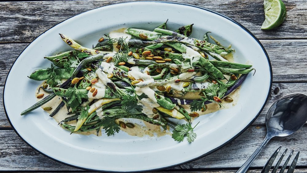 Charred Green Beans with Spicy Tonnato