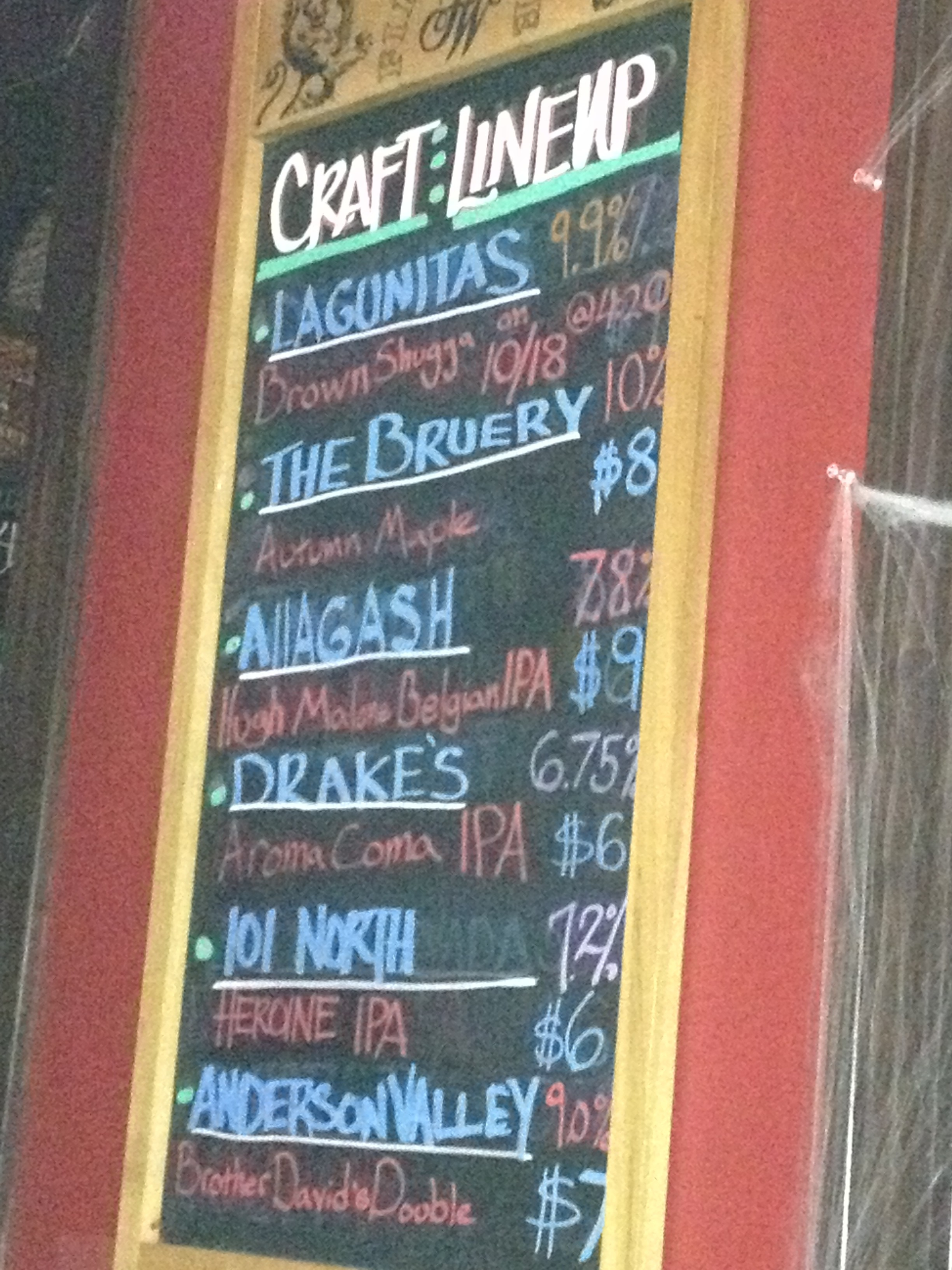 craft beer board