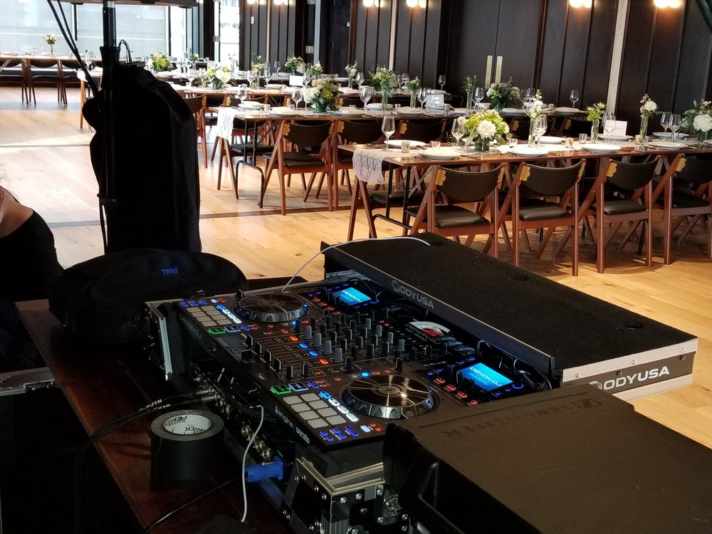 Getting ready to become the first DJ to officially break in the dance floor at District Winery in Washington.