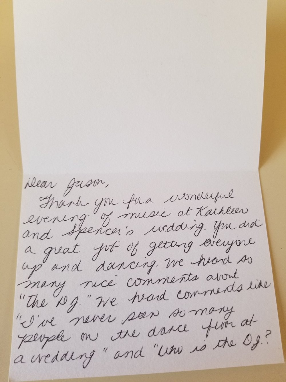 Bills, bills, junk mail, bills… parental approval thank you notes?  Priceless.