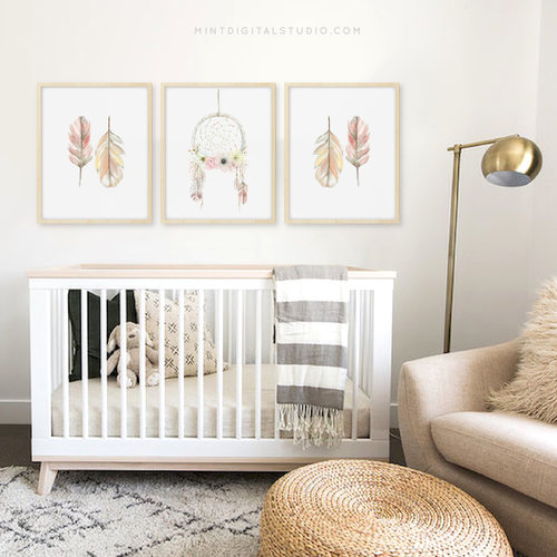 How to Choose Nursery Wall Art   Mint Digital Studio