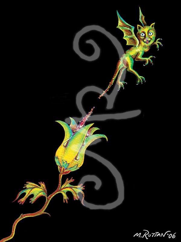 Flower Dragon-cat