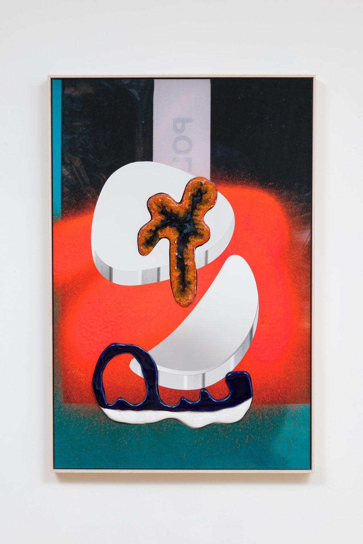 Denis Darzacq & Anna Lüneman,  Doublemix No. 51 , 2015  Digital pigment print with earthenware insert, 31 x 20.75 x 1.75 in (approx. 79 × 53 x 4 cm), unique   Inquire