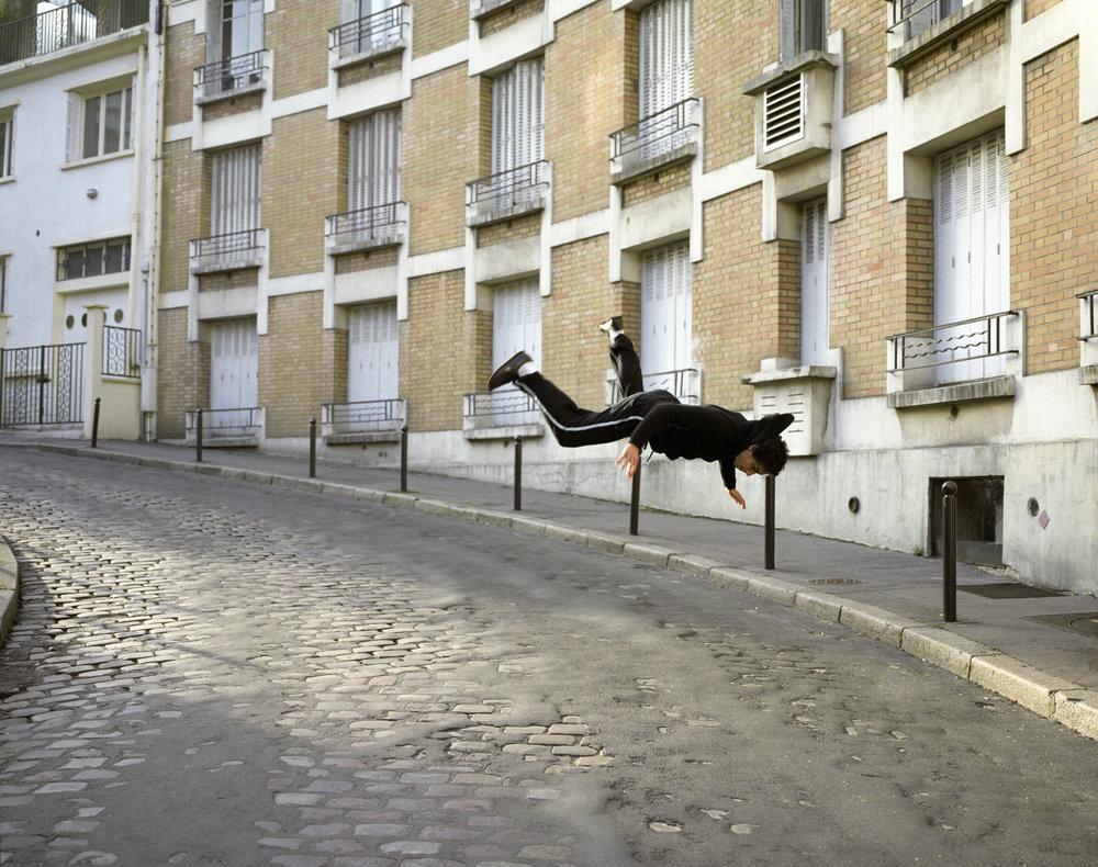 Denis Darzacq,  La Chute No. 14 , 2006  Digital C-print, 85 x 105 cm (approx. 33 x 41 in), edition of 8   Inquire