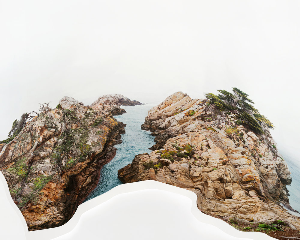 Laura Plageman,  Response to Print of Cypress Point, California , 2014  Digital pigment print, 56 x 70 in, edition of 3; 40 x 50 in, edition of 4; 20 x 25 in, edition of 5   Inquire