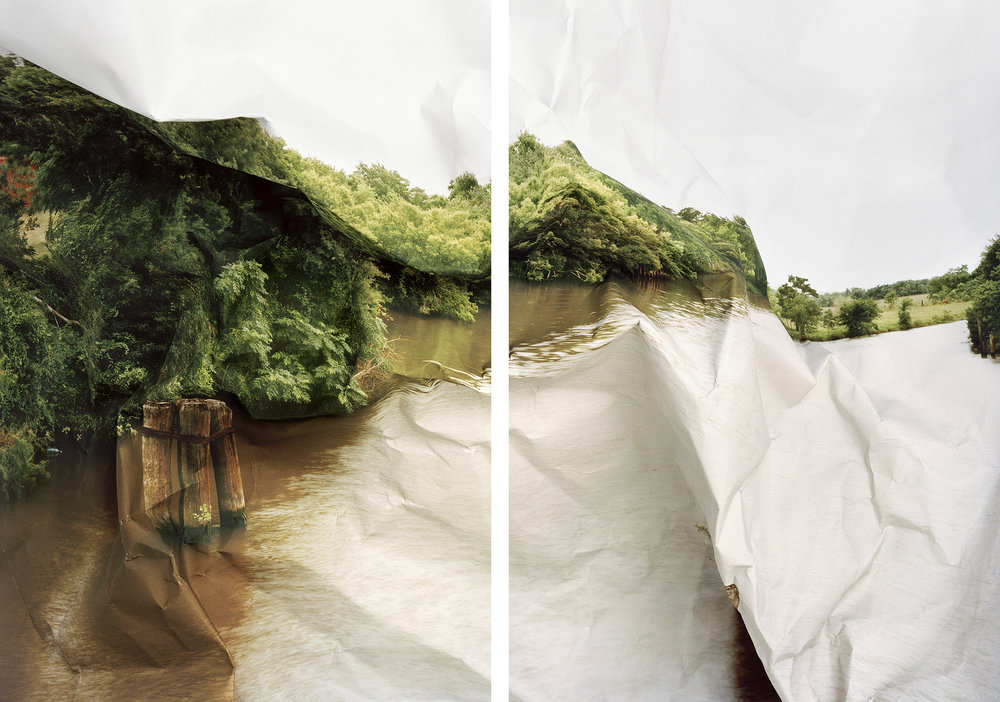 Laura Plageman,  Response to River Bend, Texas , 2011  (2) digital pigment prints, 17 x 11 in each, edition of 10   Inquire