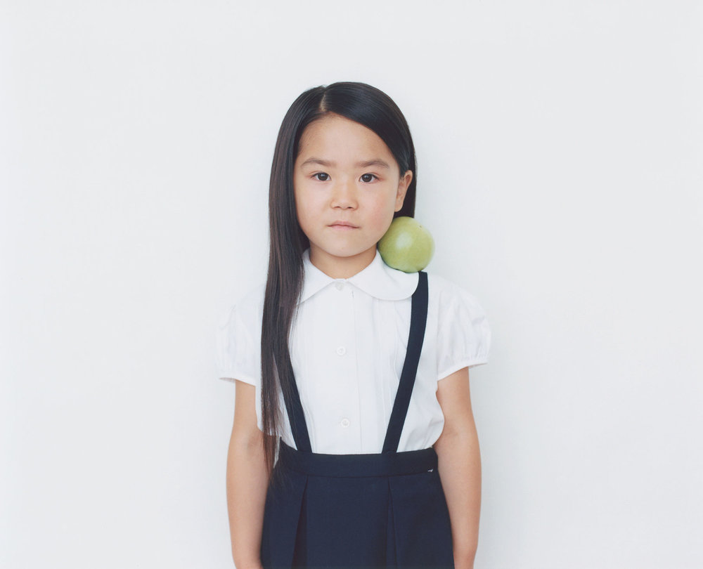 Osamu Yokonami,  1000 Children: Green Tomato No. 1 , 2010-2013  Digital pigment print, 895 x 1105 mm (approx. 35 x 43.5 in), edition of 5; 146 x 168 mm (approx. 5.75 x 6.6 in), edition of 10   Inquire