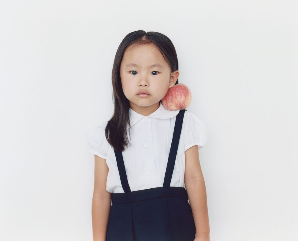 Osamu Yokonami,  1000 Children: Peach No. 62 , 2010-2013  Digital pigment print, 895 x 1105 mm (approx. 35 x 43.5 in), edition of 5; 146 x 168 mm (approx. 5.75 x 6.6 in), edition of 10   Inquire
