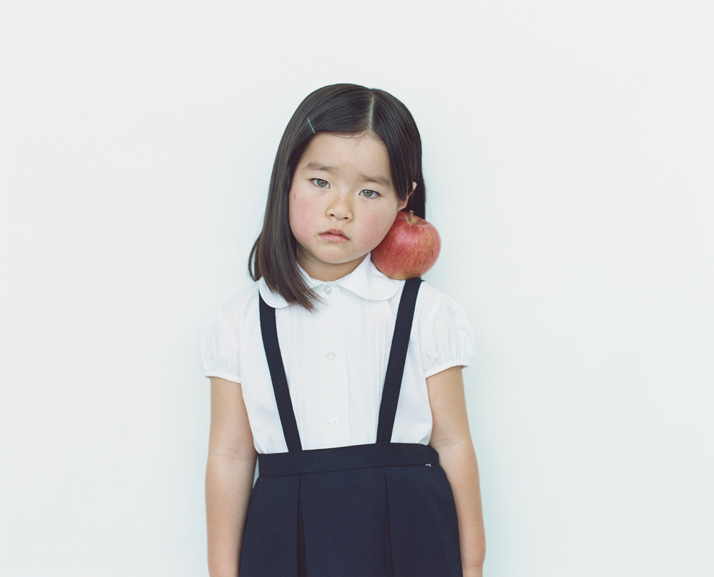 Osamu Yokonami,  1000 Children: Red Apple No. 48 , 2010-2013  Digital pigment print, 895 x 1105 mm (approx. 35 x 43.5 in), edition of 5; 146 x 168 mm (approx. 5.75 x 6.6 in), edition of 10   Inquire