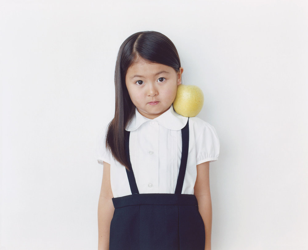 Osamu Yokonami,  1000 Children: Yellow Apple No. 18 , 2010-2013  Digital pigment print, 895 x 1105 mm (approx. 35 x 43.5 in), edition of 5; 146 x 168 mm (approx. 5.75 x 6.6 in), edition of 10   Inquire