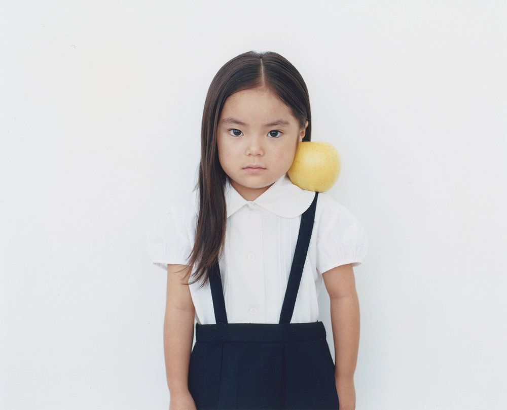 Osamu Yokonami,  1000 Children: Yellow Apple No. 71 , 2010-2013  Digital pigment print, 895 x 1105 mm (approx. 35 x 43.5 in), edition of 5; 146 x 168 mm (approx. 5.75 x 6.6 in), edition of 10   Inquire