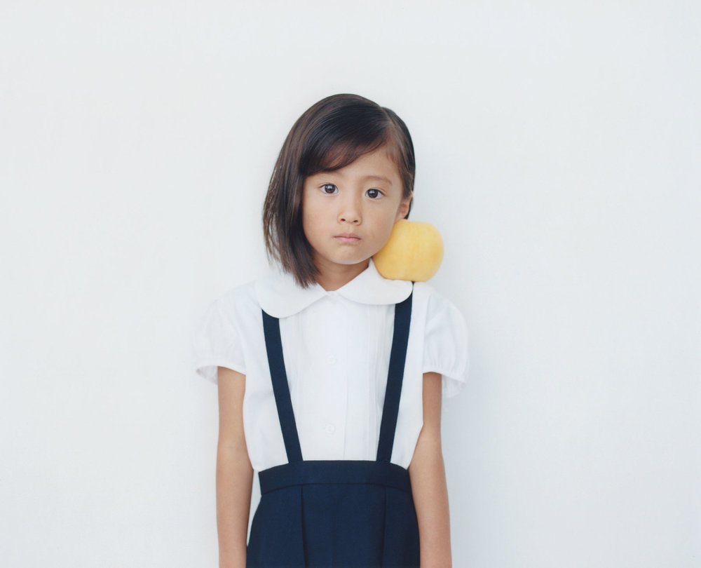 Osamu Yokonami,  1000 Children: Yellow Peach No. 1 , 2010-2013  Digital pigment print, 895 x 1105 mm (approx. 35 x 43.5 in), edition of 5; 146 x 168 mm (approx. 5.75 x 6.6 in), edition of 10   Inquire