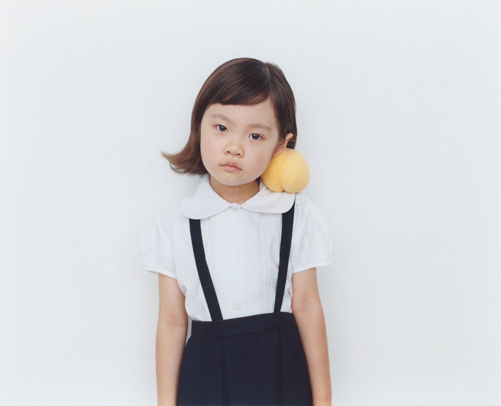 Osamu Yokonami,  1000 Children: Yellow Peach No. 100 , 2010-2013  Digital pigment print, 895 x 1105 mm (approx. 35 x 43.5 in), edition of 5; 146 x 168 mm (approx. 5.75 x 6.6 in), edition of 10   Inquire