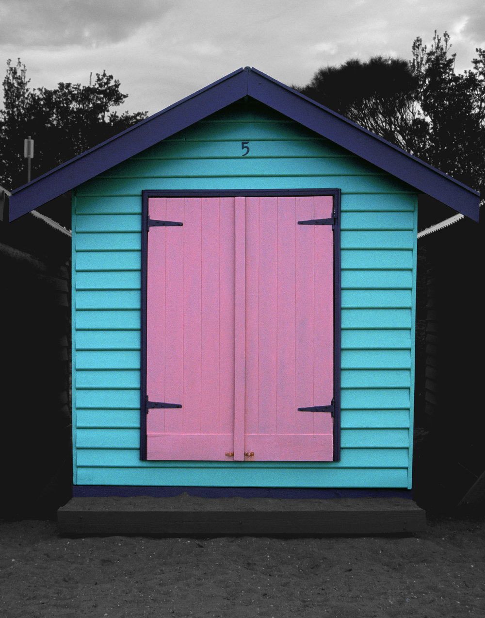 Judy Gelles,  Beach Box No. 5 , 2003  Digital pigment print, 8 x 10 in, edition of 20; 11 x 14 in, edition of 25; 16 x 20 in, edition of 25   Inquire