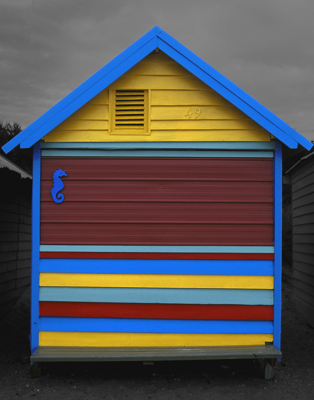 Judy Gelles,  Beach Box No. 49 , 2003  Digital pigment print, 8 x 10 in, edition of 20; 11 x 14 in, edition of 25; 16 x 20 in, edition of 25   Inquire