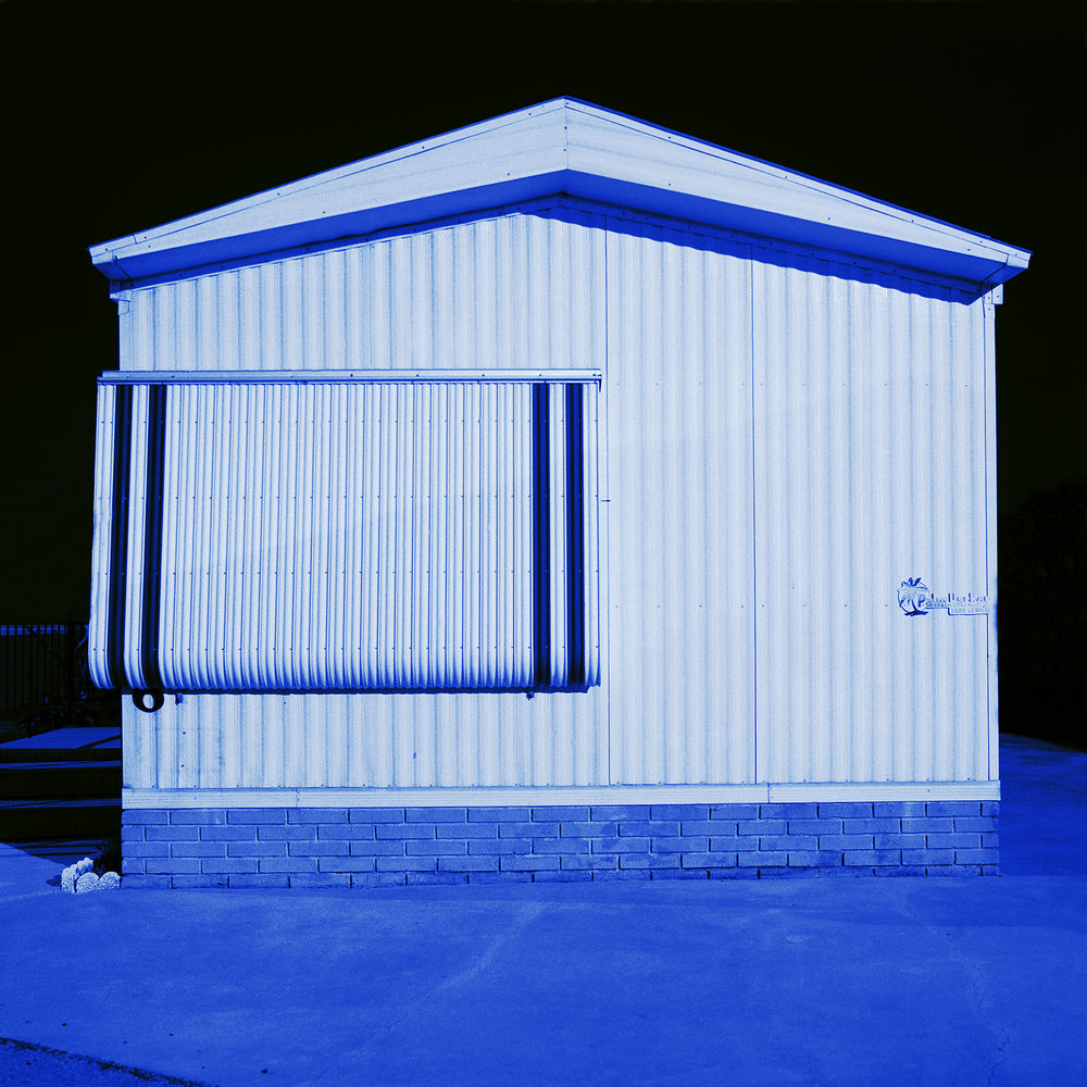Judy Gelles,  Mobile Home No. 16 , 2002  Digital pigment print, 8 x 8 in, edition of 25; 15 x 15 in, edition of 25   Inquire