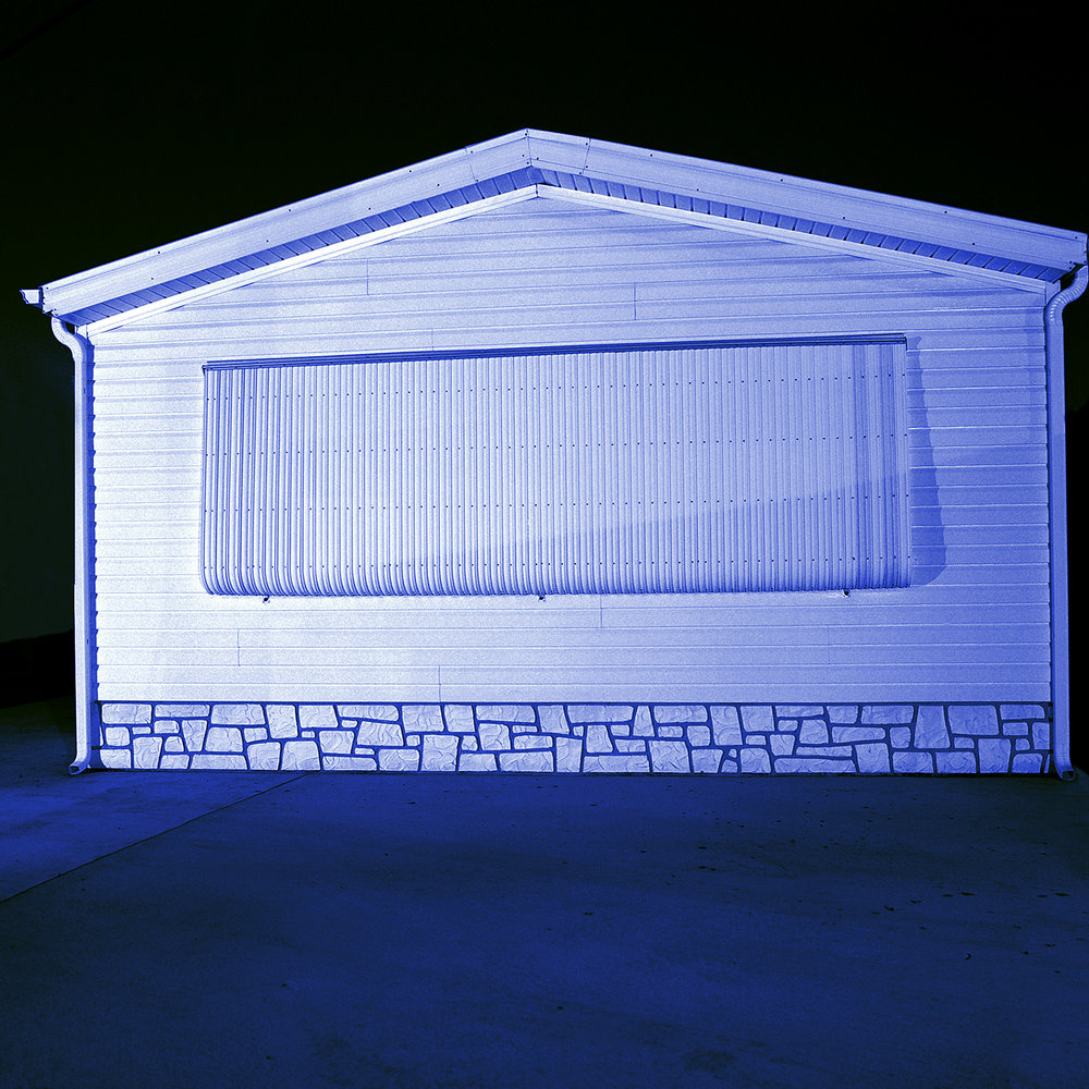 Judy Gelles,  Mobile Home No. 3 , 2002  Digital pigment print, 8 x 8 in, edition of 25; 15 x 15 in, edition of 25   Inquire