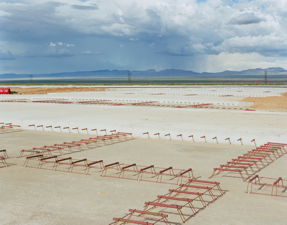 Connie Samaras,  Spaceport America: Runway Construction, 2010   Digital pigment print, 38 x 48 inches, edition of 5   Inquire