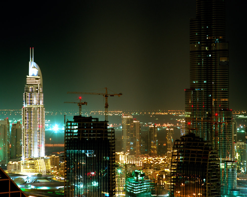 Connie Samaras,  After the American Century: Downtown Burj Dubai, Night, 2009   Digital pigment print, 40 x 48 inches, edition of 5   Inquire