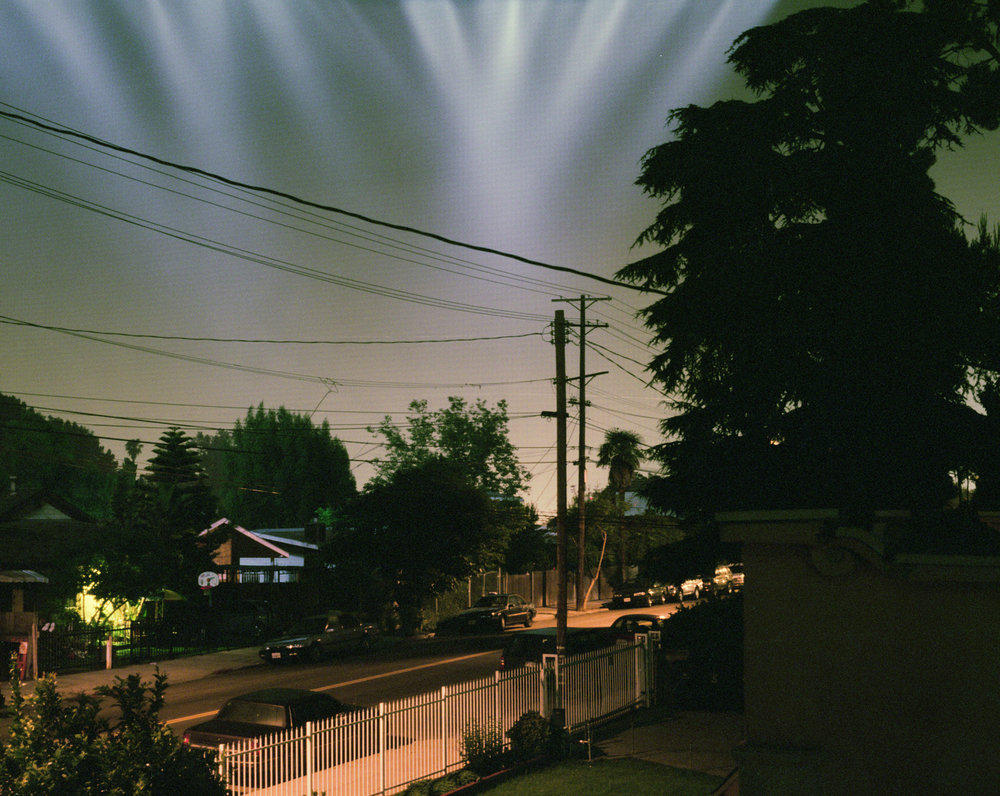 Connie Samaras,  Angelic States - Events Sequence: LA Homicide (LAPD helicopters) , 2001  Digital pigment print, 40 x 50 inches, edition of 5   Inquire
