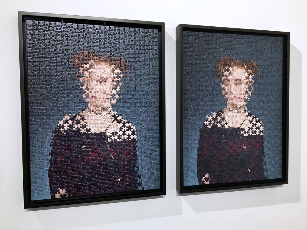 Alma Haser,  Maria and Katerina (1 and 2) , 2018  (2) digital pigment print puzzles (1000 pieces each, 47.7 x 63.9 cm (18.8 x 25.1 in), edition of 6, framed   Inquire