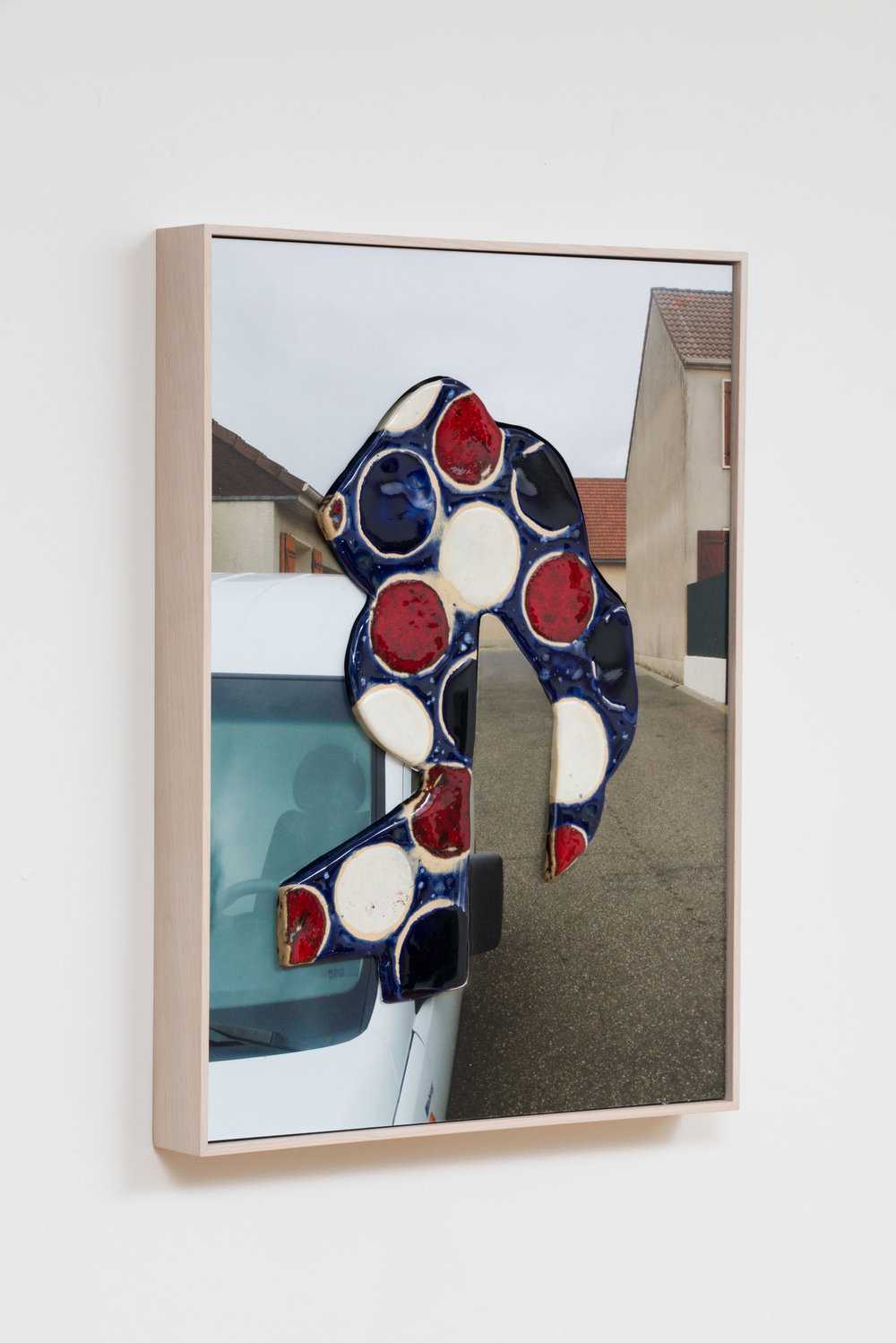 Denis Darzacq,  Doublemix No. 9 , 2014  Digital pigment print with earthenware insert, 18.5 x 14 x 1.75 in (approx. 47 × 36 x 4 cm), unique   Inquire