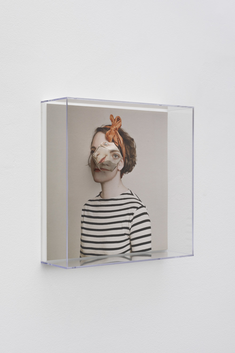 Alma Haser,  Patient No. 1 HD (Lottie) , 2016  Digital pigment print with folded digital pigment print sculpture, plexiglass box, 30 x 30 x 10 cm (approx. 12 x 12 x 4 in), edition of 5   Inquire
