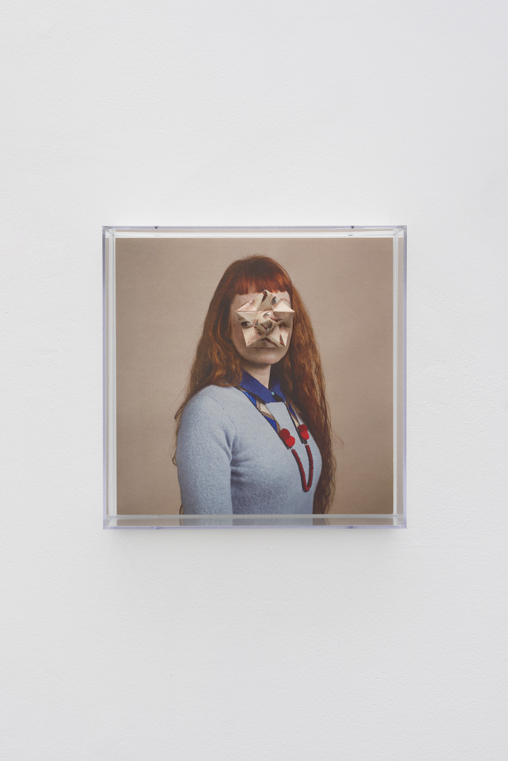 Alma Haser,  Patient No. 36 HD (Zoniel) , 2017  Digital pigment print with folded digital pigment print sculpture, plexiglass box, 30 x 30 x 10 cm (approx. 12 x 12 x 4 in), edition of 5   Inquire