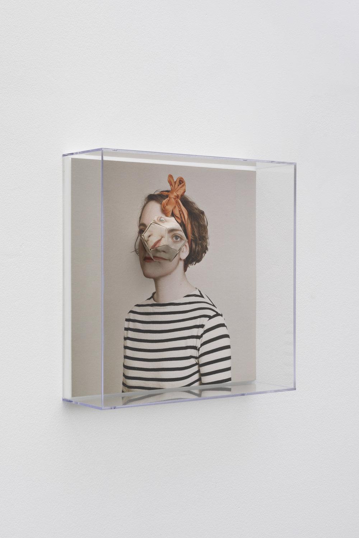 Alma Haser,  Patient No. 1 HD (Lottie) , 2016  Digital pigment print with folded digital pigment print sculpture, plexiglass box, 30 x 30 x 10 cm (approx. 12 x 12 x 4 in), edition of 5   Inquire