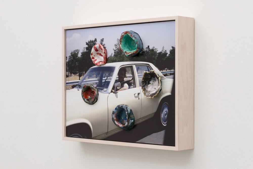 Denis Darzacq & Anna Lüneman,  Doublemix No. 45 , 2015  Digital pigment print with earthenware insert, 11.5 x 14 x 2.5 in (approx. 29 × 36 x 6 cm), unique   Inquire