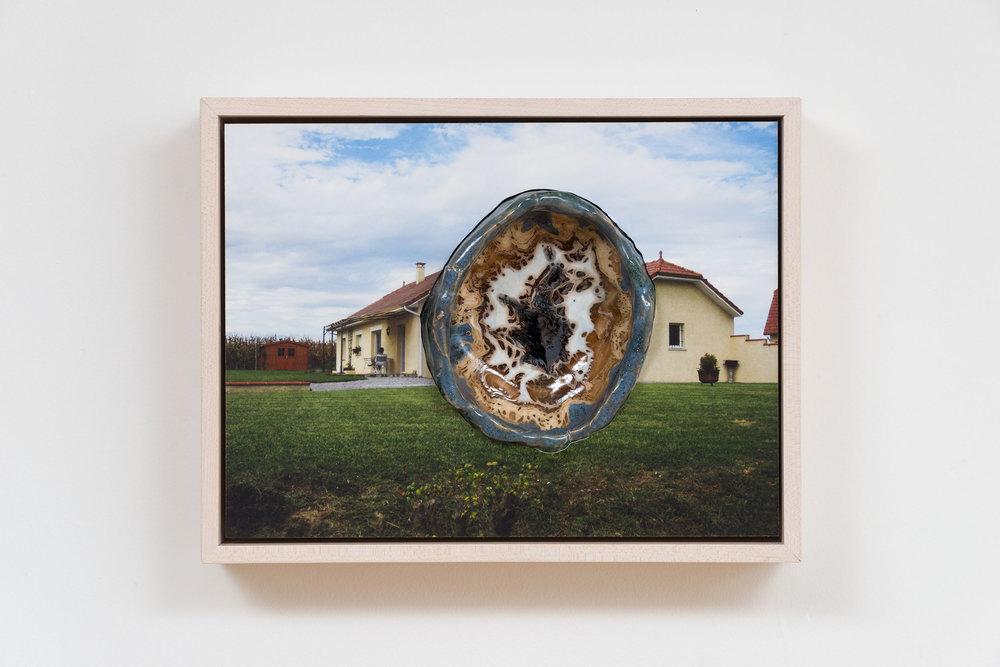 Denis Darzacq & Anna Lüneman,  Doublemix No. 30 , 2015  Digital pigment print with earthenware insert, 8.25 x 10.5 x 3.25 in (approx. 21 × 27 x 8 cm), unique   Inquire