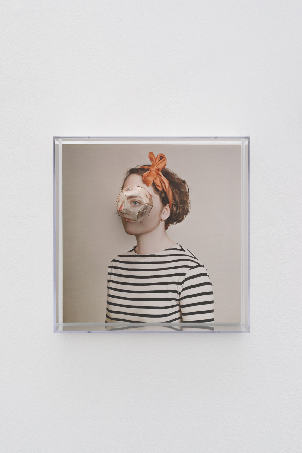 Alma Haser,  Patient No. 1 HD (Lottie) , 2016  Digital pigment print with folded digital pigment print sculpture, 30 x 30 x 10 cm (approx. 12 x 12 x 4 in), AP1, $2600   Inquire