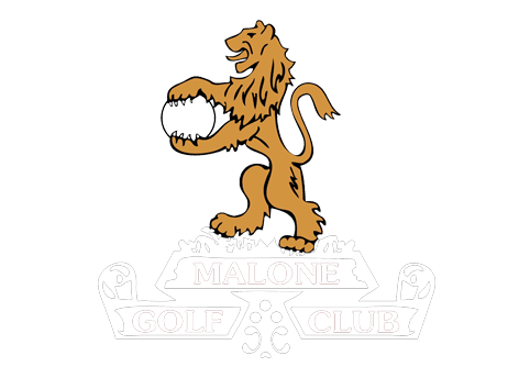 Malone Golf Club   A round of Golf for two, accompanied with two Ulster Rugby Players