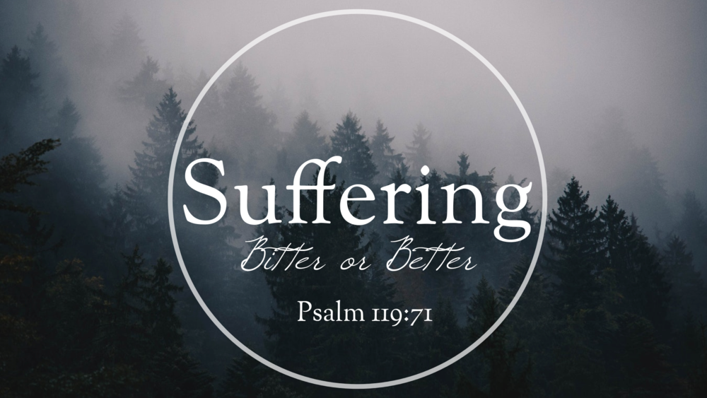 - My suffering was good for me, for it taught me to pay attention to your decrees.Psalms 119:71