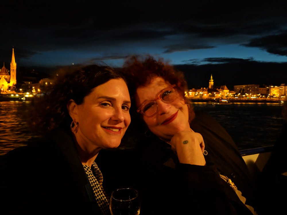 Amy and Carin on the Danube riverboat