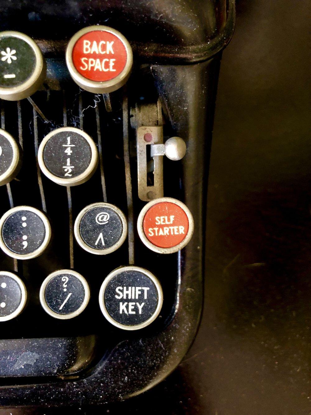 My typewriter that I absolutely do not use. Photo by Martine Audet.