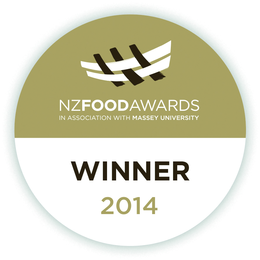 NZ food awards winner.