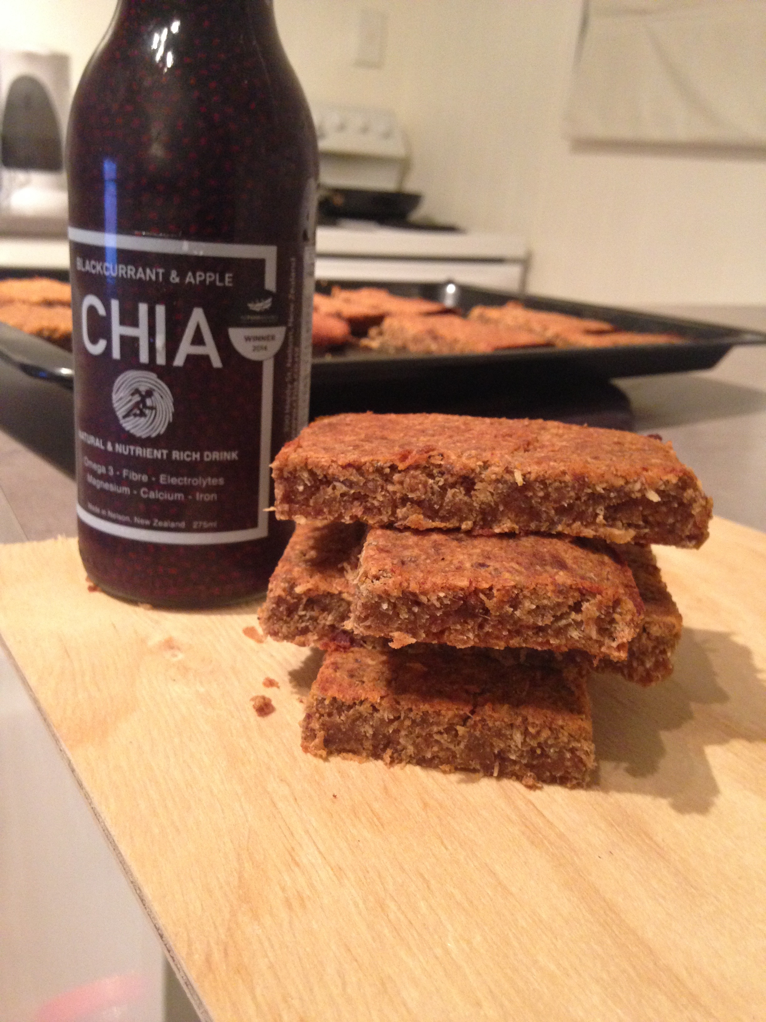 Toasted Date & CHIA slice