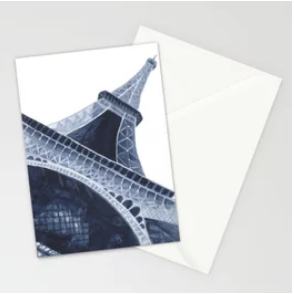 Blue Eiffel Tower Greeting Card |    $23.99