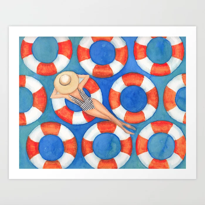 Beach Babe - Art Print |  $21.99