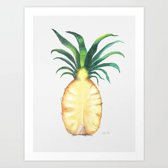 Pineapple Crown - Art Print |  $21.99