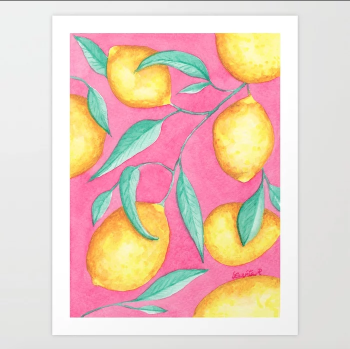 Pink Lemonade - Art Print |    $21.99
