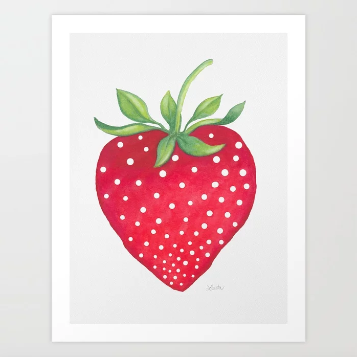 Sweet Strawberry - Art Print |    $21.99