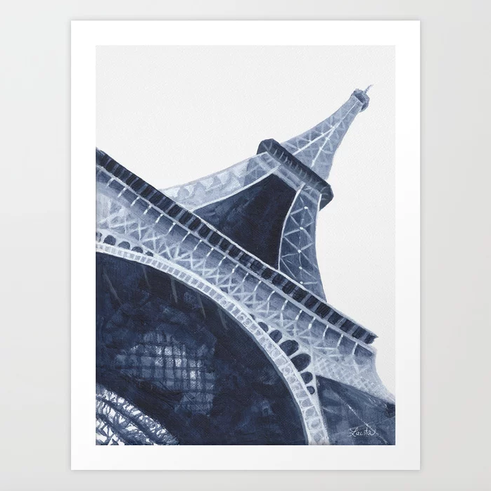 Blue Eiffel Tower - Art Print |  $21.99